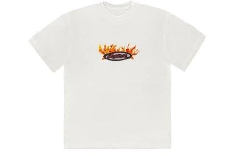 Travis Scott Cactus Jack Flame T-shirt Cream