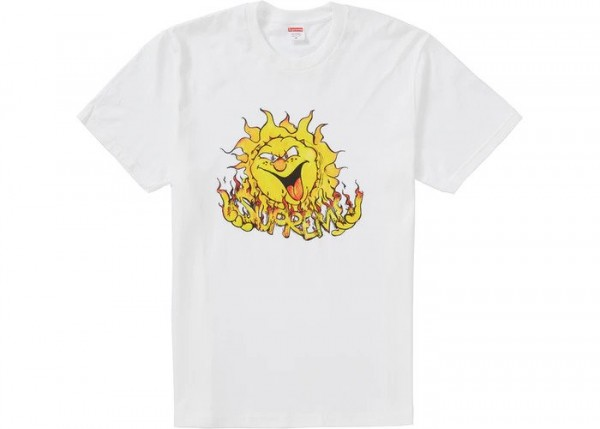SUPREME SUN TEE WHITE