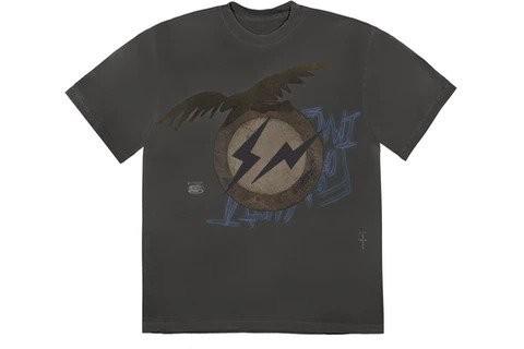 Travis Scott Cactus Jack For Fragment Create T-shirt Washed Black