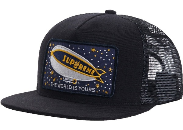 SUPREME BLIMP HAT BLACK