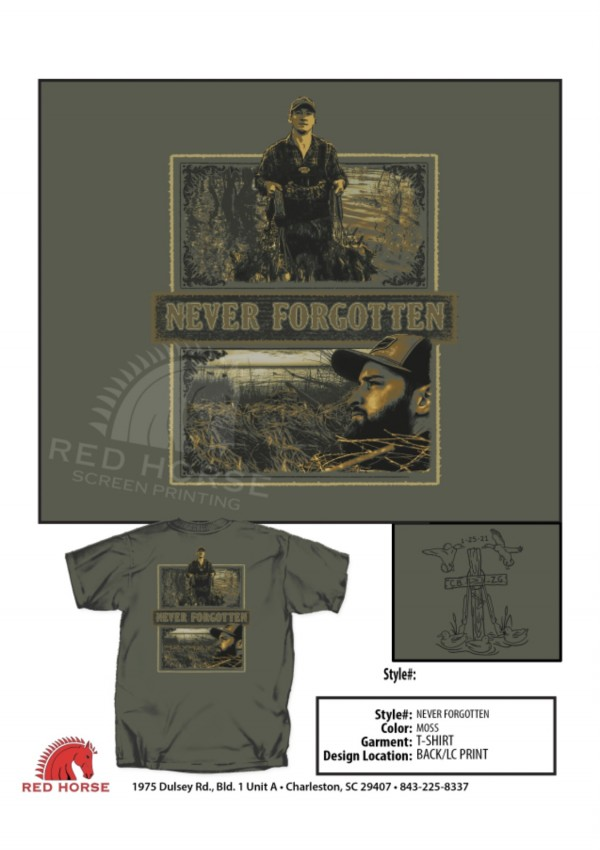 Chance Black and Zack Grooms Memorial Shirt