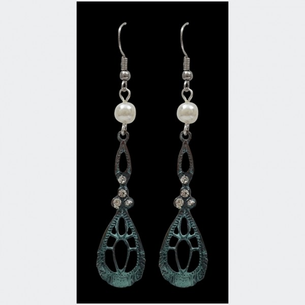 Silver Strike Patina Filigree earrings