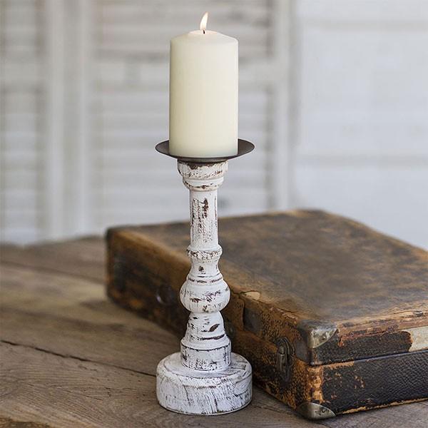 Wood Candle Pillar Round Base