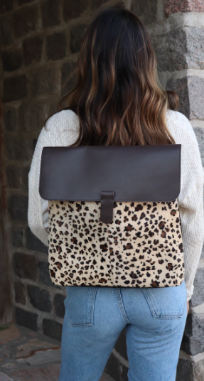 Faux cowhide and leather Bag