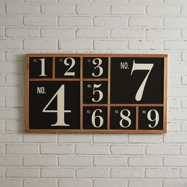 Vintage Style Numeral Wall Sign
