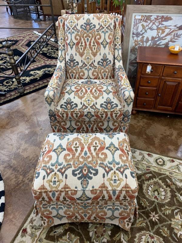 Norwalk Swivel Chair W/ Ottoman