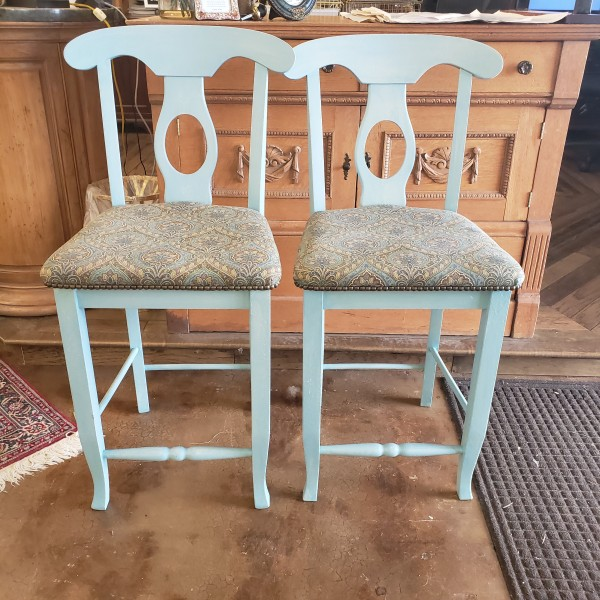 PAIR Counter-height Bar Stools AS IS