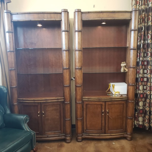 PAIR of 2 Hooker Curio Cabinets