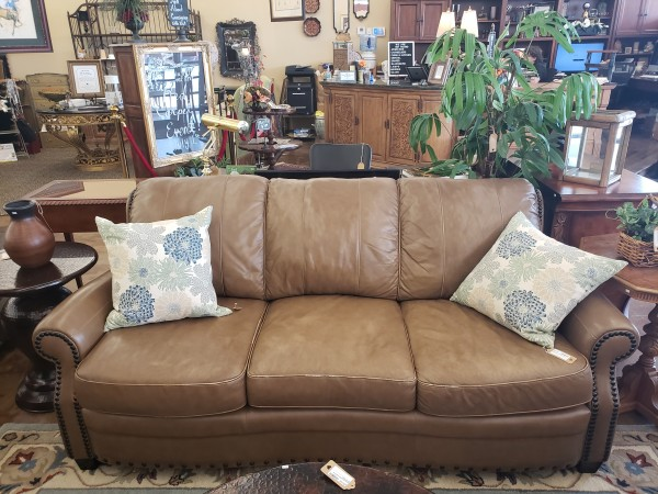 Light Brown Faux Leather Sofa