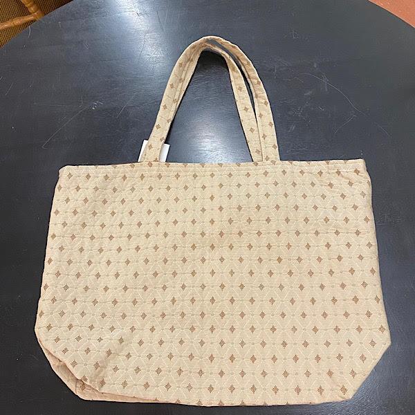 Reversible Bag - Tan with Brown Diamonds