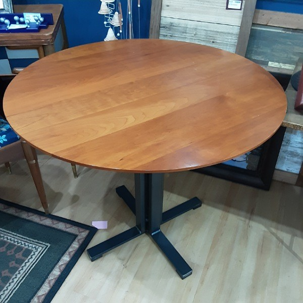Round Table with Steel Legs