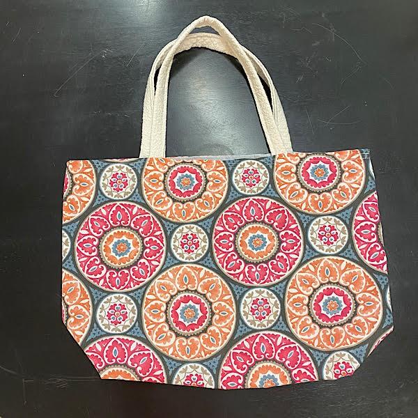 Reversible Bag - Pink, Orange & Black