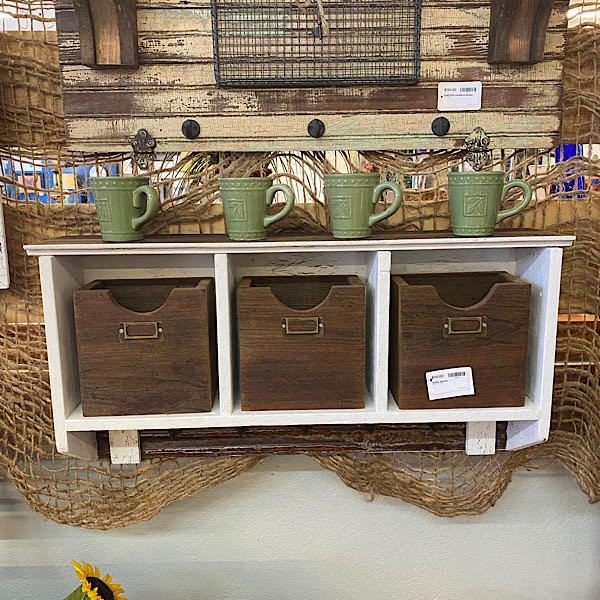 Coffee Station With 3 Cubbies