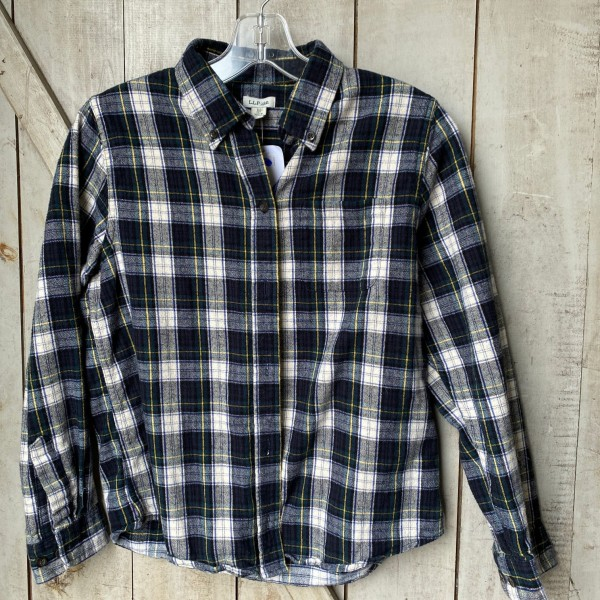 L.L.Bean Scotch Plaid Flannel Shirt - W's XS P