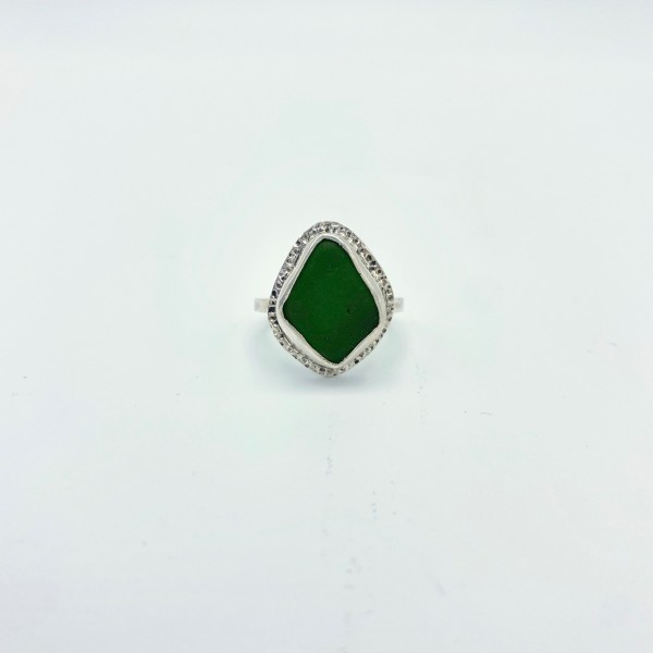 Green Sea Glass Ring (PG-114)