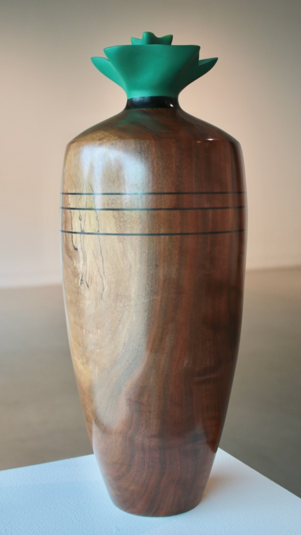 Vessel with Painted Flower