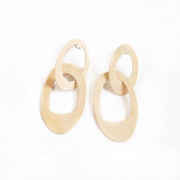 Cantaloupe Interlocking Chain Drop Earrings (KT-024)