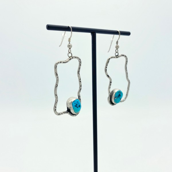 Turquoise Free Form Earrings (PG-117)