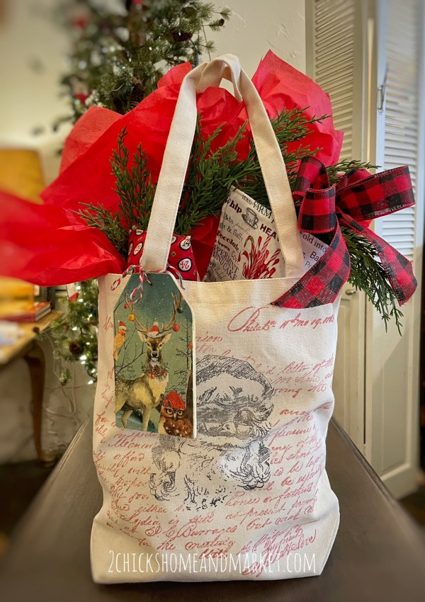 July 29th - Christmas in July IOD Stamped Canvas Bag w/Tag