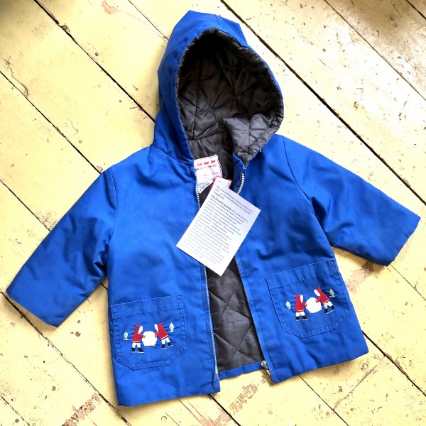 GRENFELL HANDCRAFTED BLUE EMBROIDERED COAT