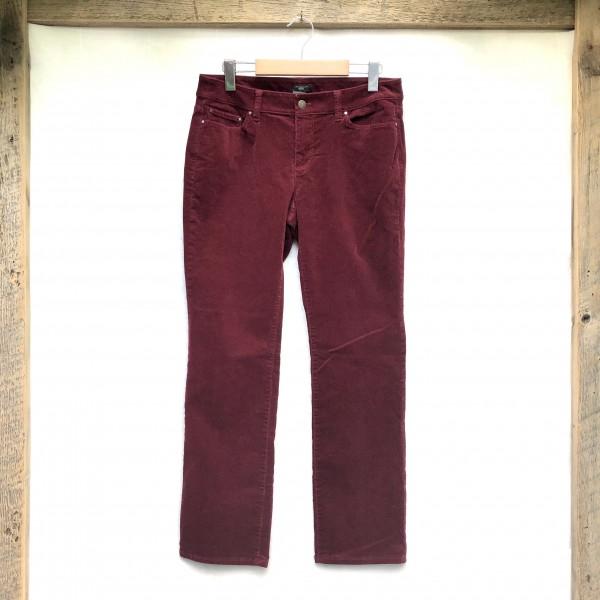 ANN TAYLOR BURGUNDY RED CORDUROY PANTS