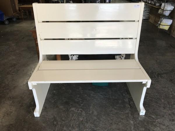 White Bench 45L x 24D x 42H