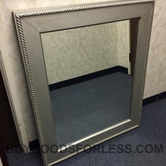 Silver Wood Framed Mirror