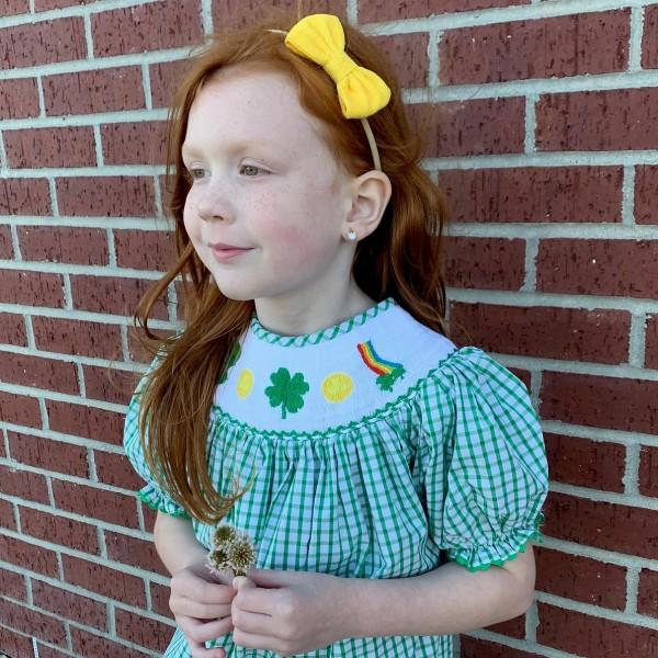 Smocked St. Patrick's Dress