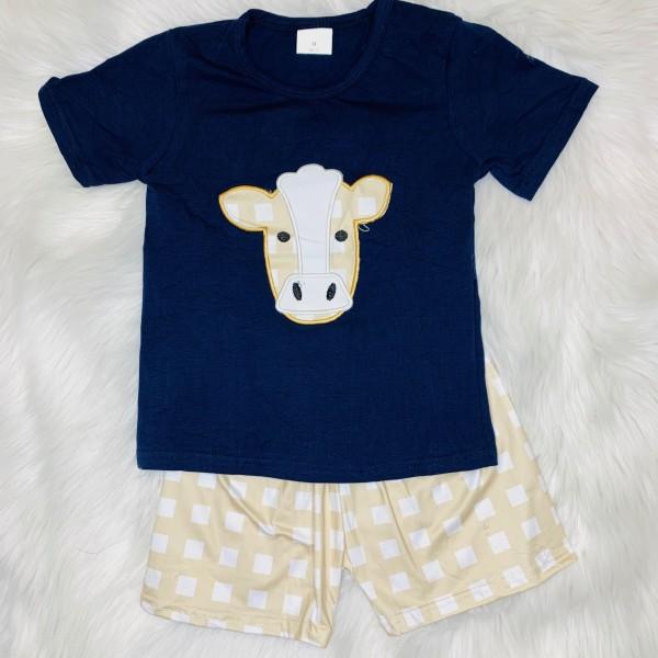 Cow Shorts Set