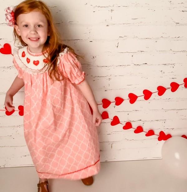 Smocked Valentine Dress