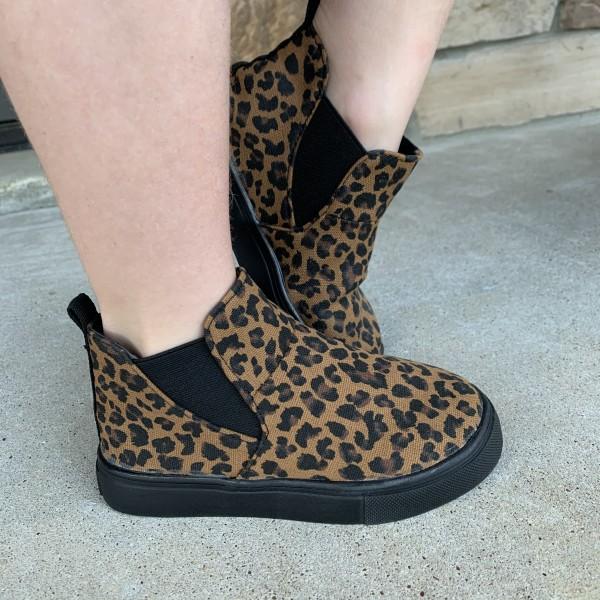 Leopard Hi-Top Slip-ons