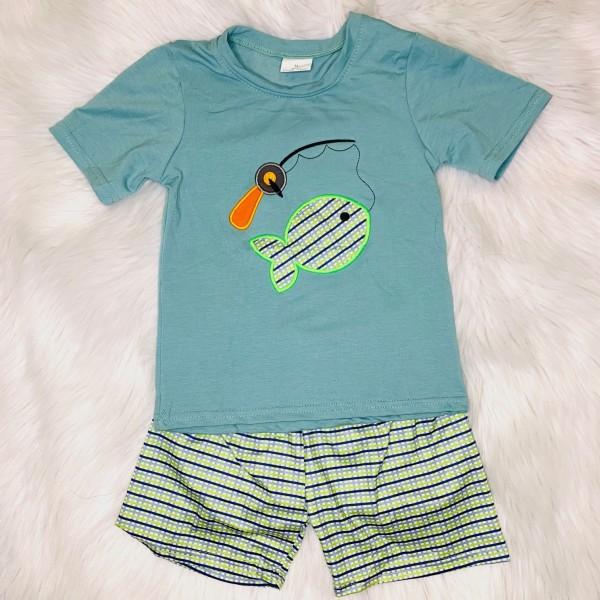 Gone Fishing Shorts Set