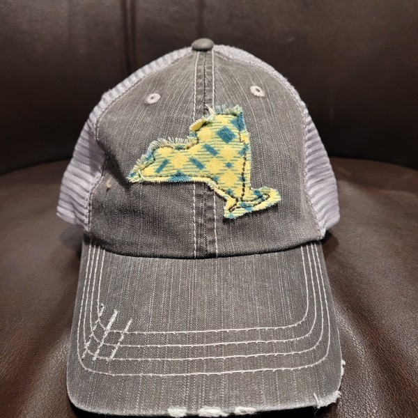 Plaid Flannel State Hat - NY