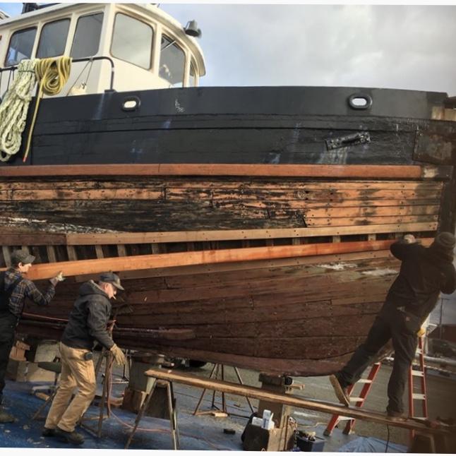 Wood Boat, Lumber, Tools, Remnants