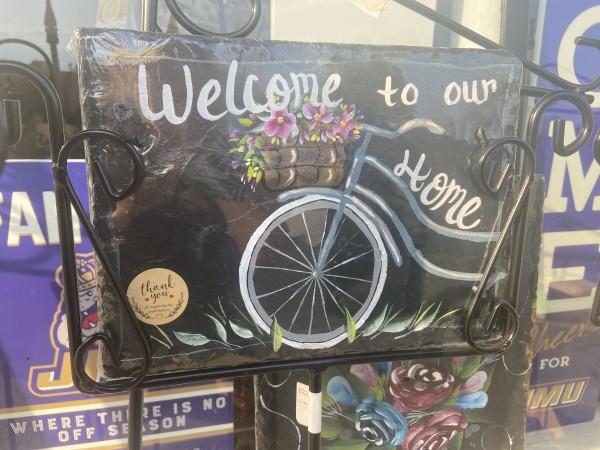 12x9 welcome home bike