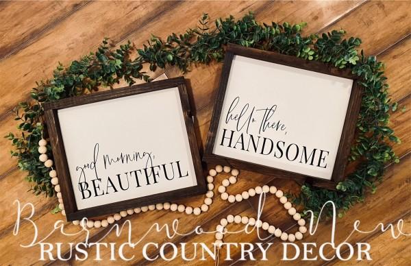 Beautiful/Handsome Sign Set