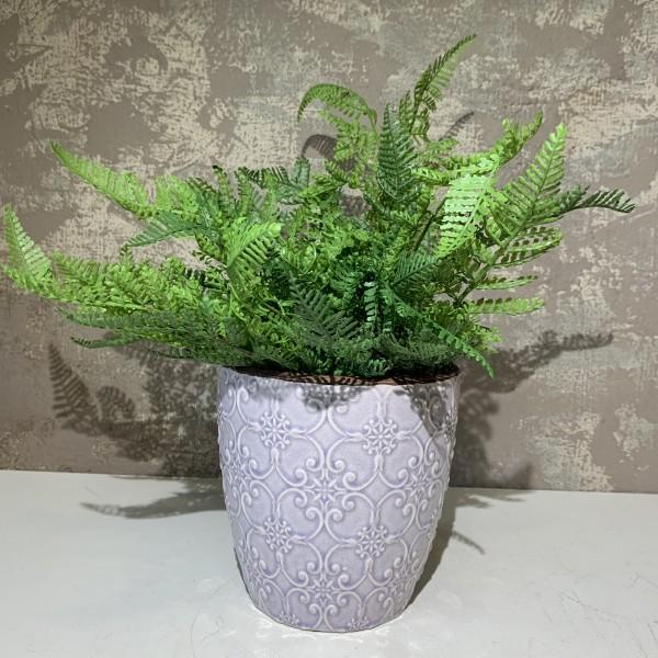 Flower Pot - Glazed Light Mauve
