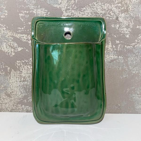 Terracotta Wall Planter - Green