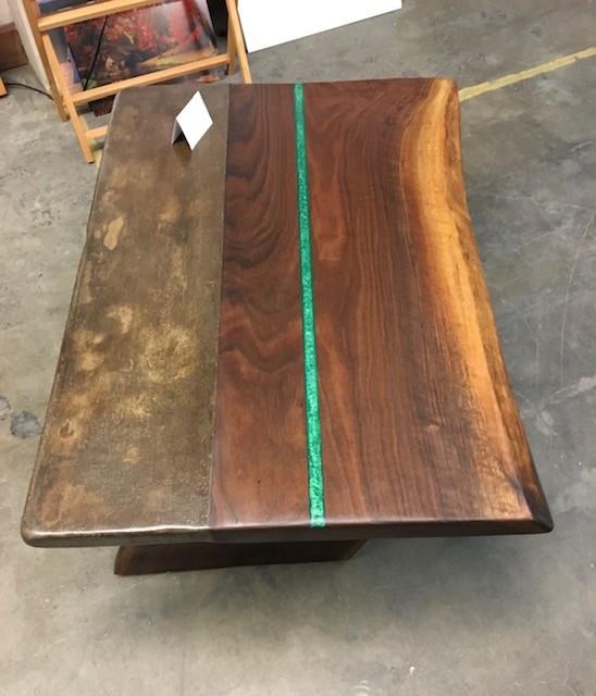 Walnut & Concrete Coffee Table