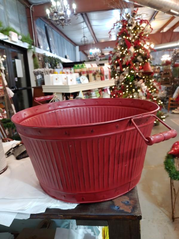 Bucket RED METAL 19