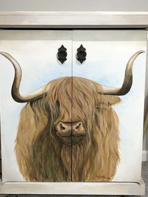 Highland Cow Cabinet