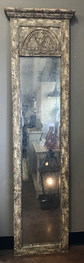 Aged Beauty!  Tall Mirror With Smoky Mirror