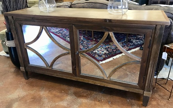 2 Door Mirrored Console / Cabinet - Great for a Big TV!