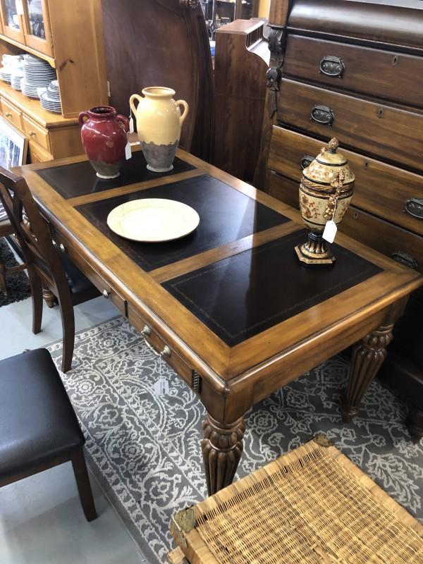 Executive Desk Leather Top