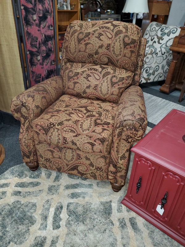 Ashley Brown Paisley Recliner Chair - AS IS