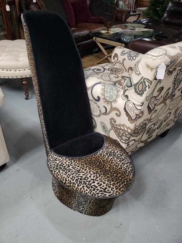 Leopard Print Shoe Stool
