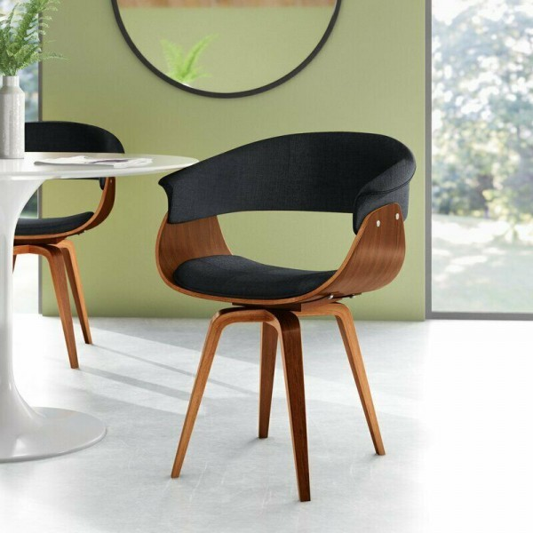 NEW Deane Upholstered Dining Chair Mid-Century Modern Accent Side Arm Chair