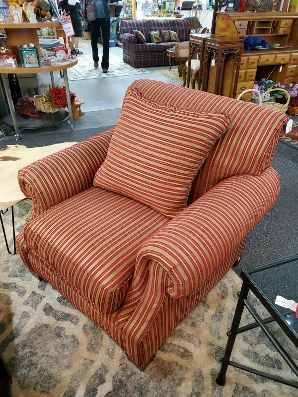 Drexel Red Oversized Chair