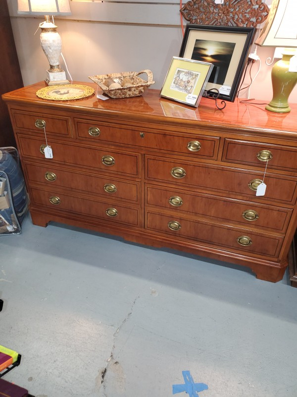 Drexel Burl Wood Dresser, The Studio Collection