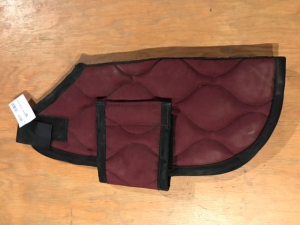 Dog Blanket - Quilted - Maroon - 19.5